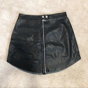 Dynamite Pleather Skirt with Zipper